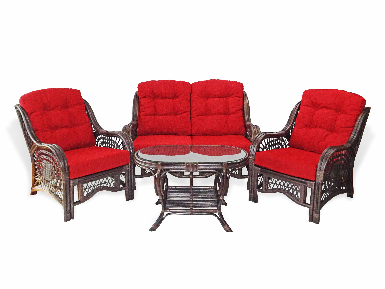 Malibu 4 Pc Living Room Set Rattan Usa