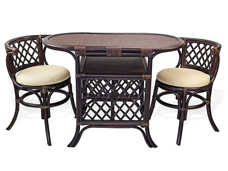borneo 3 pc dining set rattan usa. Black Bedroom Furniture Sets. Home Design Ideas