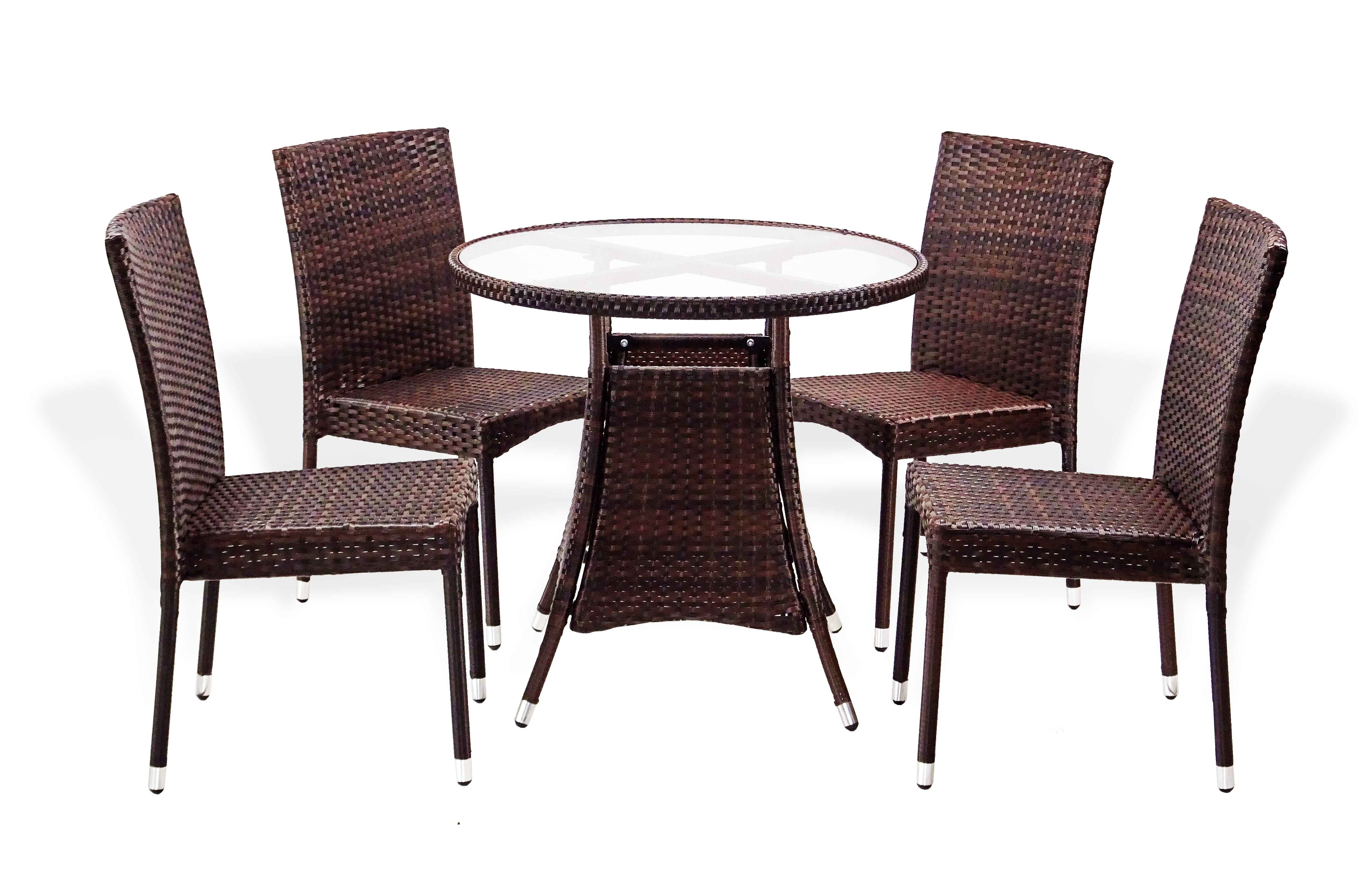Patio 5 pc dinning set round table side chairs - Naturewood furniture for both indoor and outdoor sitting ...