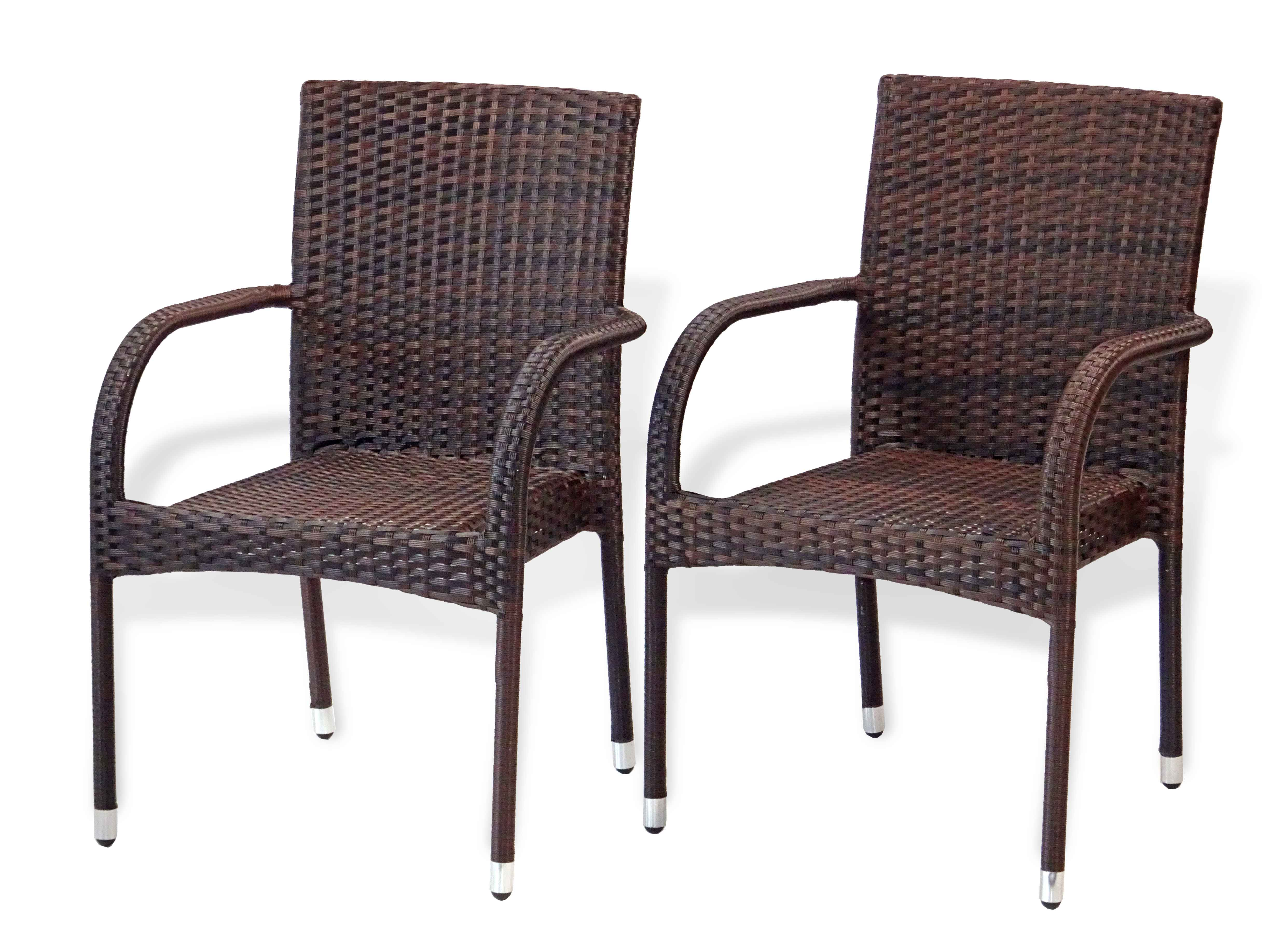 Patio 3 pc Dinning Set square table & armchairs – Rattan USA