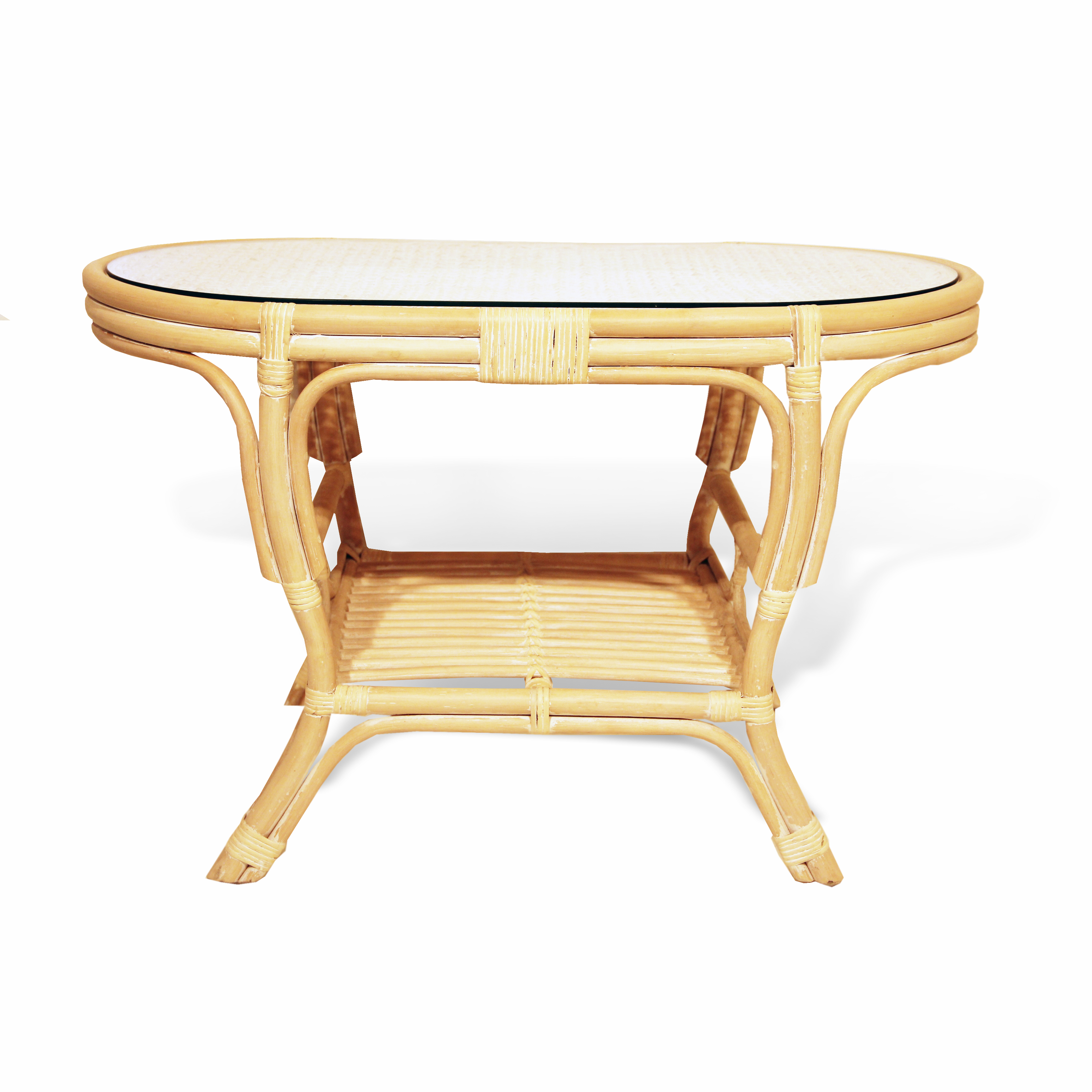 Pelangi Oval Coffee Table Rattan Usa