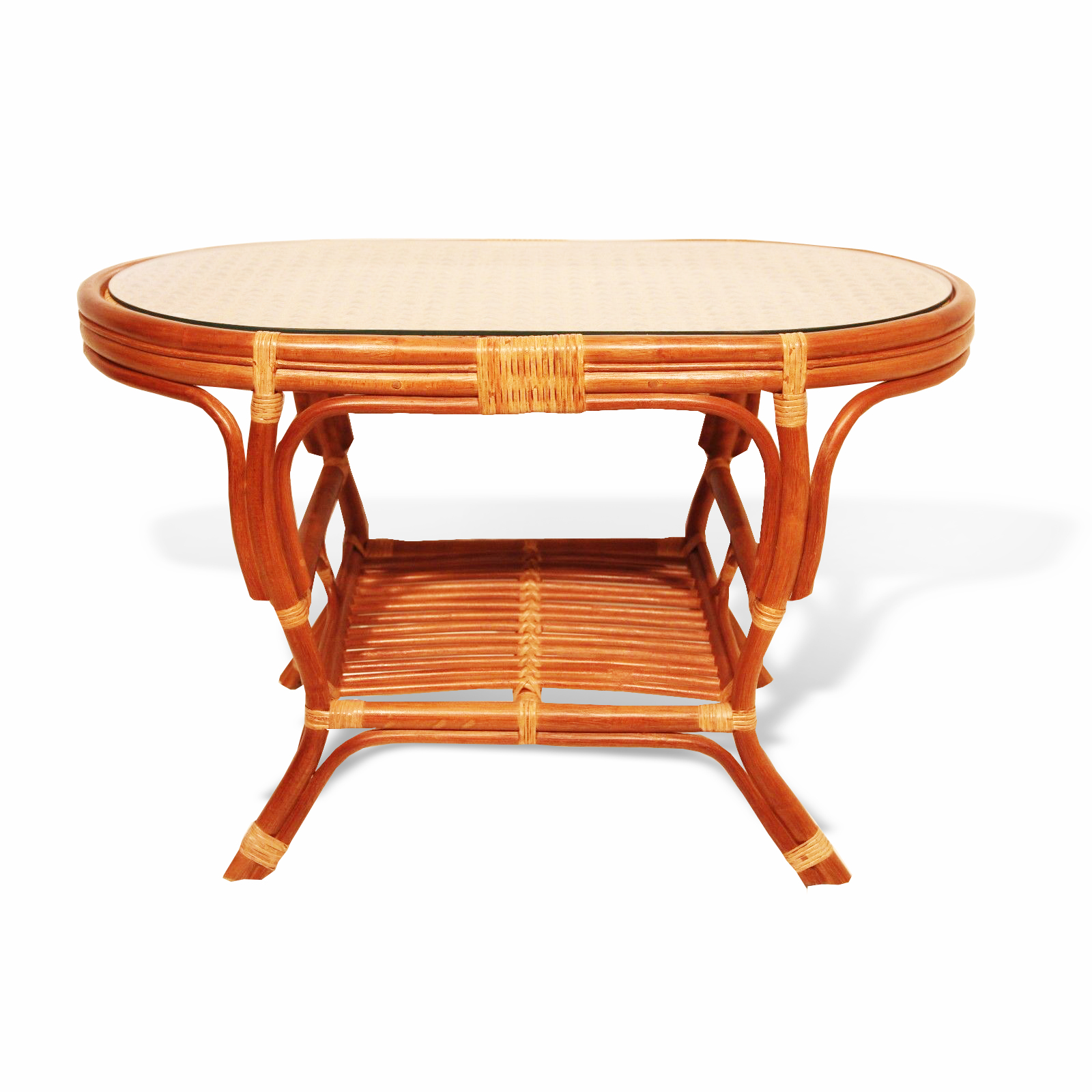 Pelangi Oval Coffee Table Rattan Usa