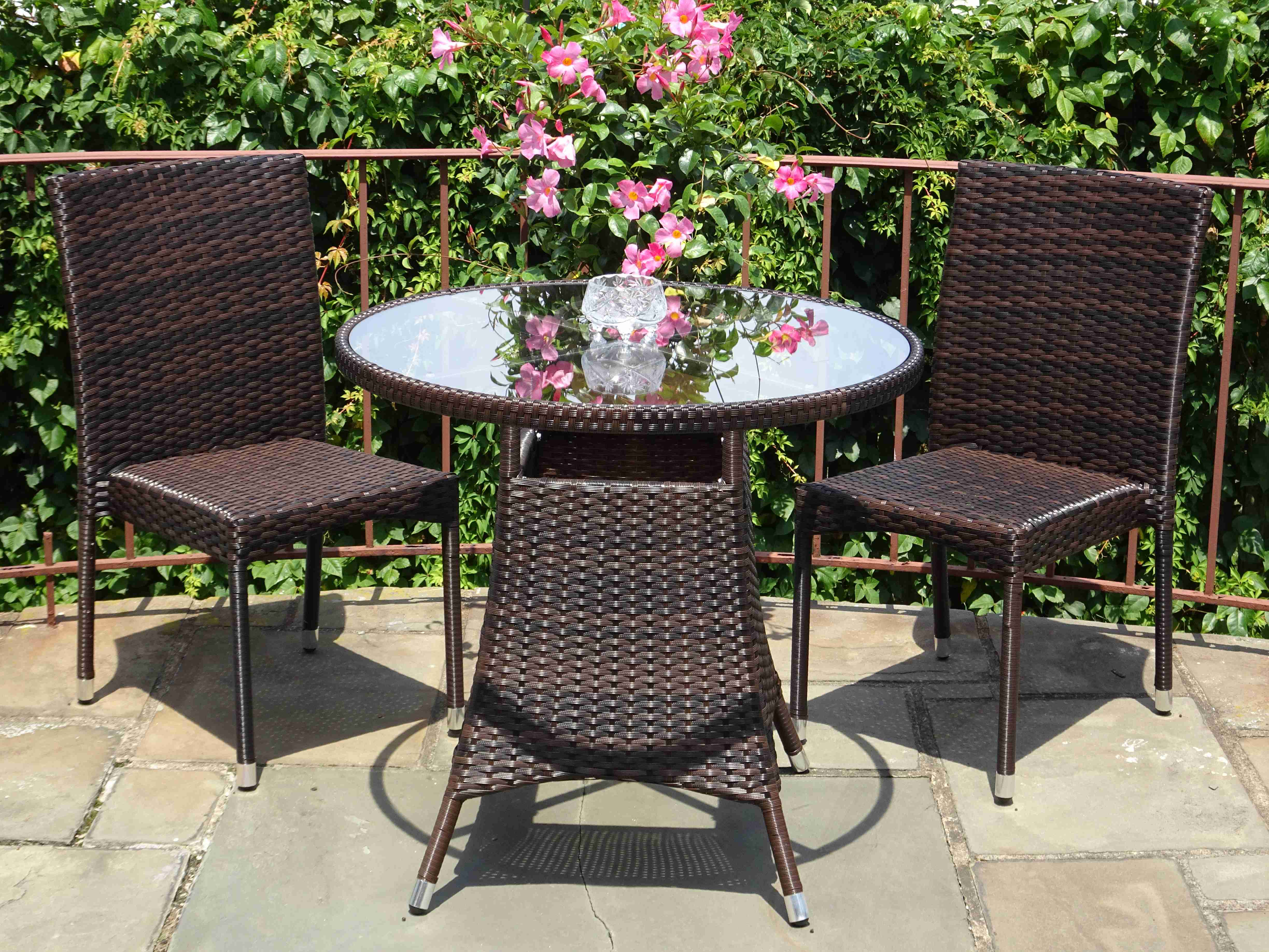 Buy Patio 3 Pc Dinning Set Round Table Amp Side Chairs In