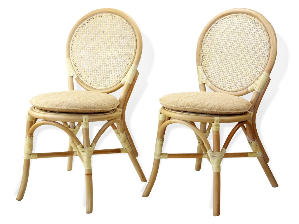 Denver 2 Pc Dining Side Chairs Rattan Usa