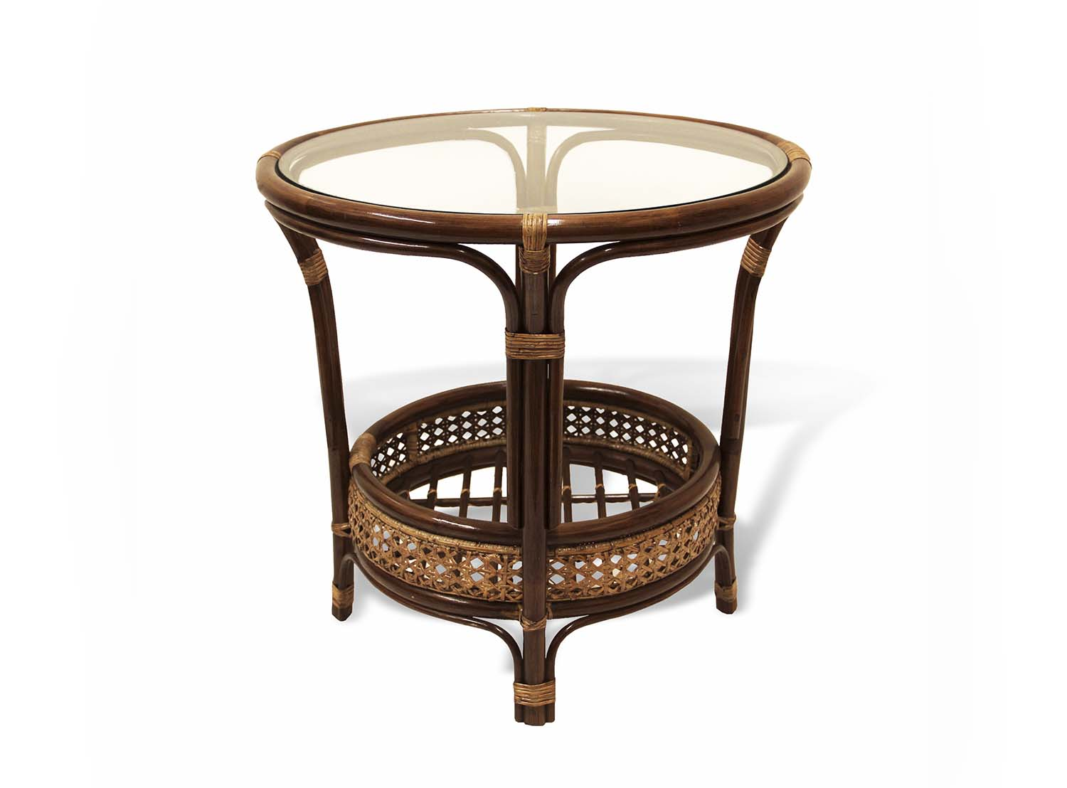 Pelangi round coffee table rattan usa Rattan round coffee table