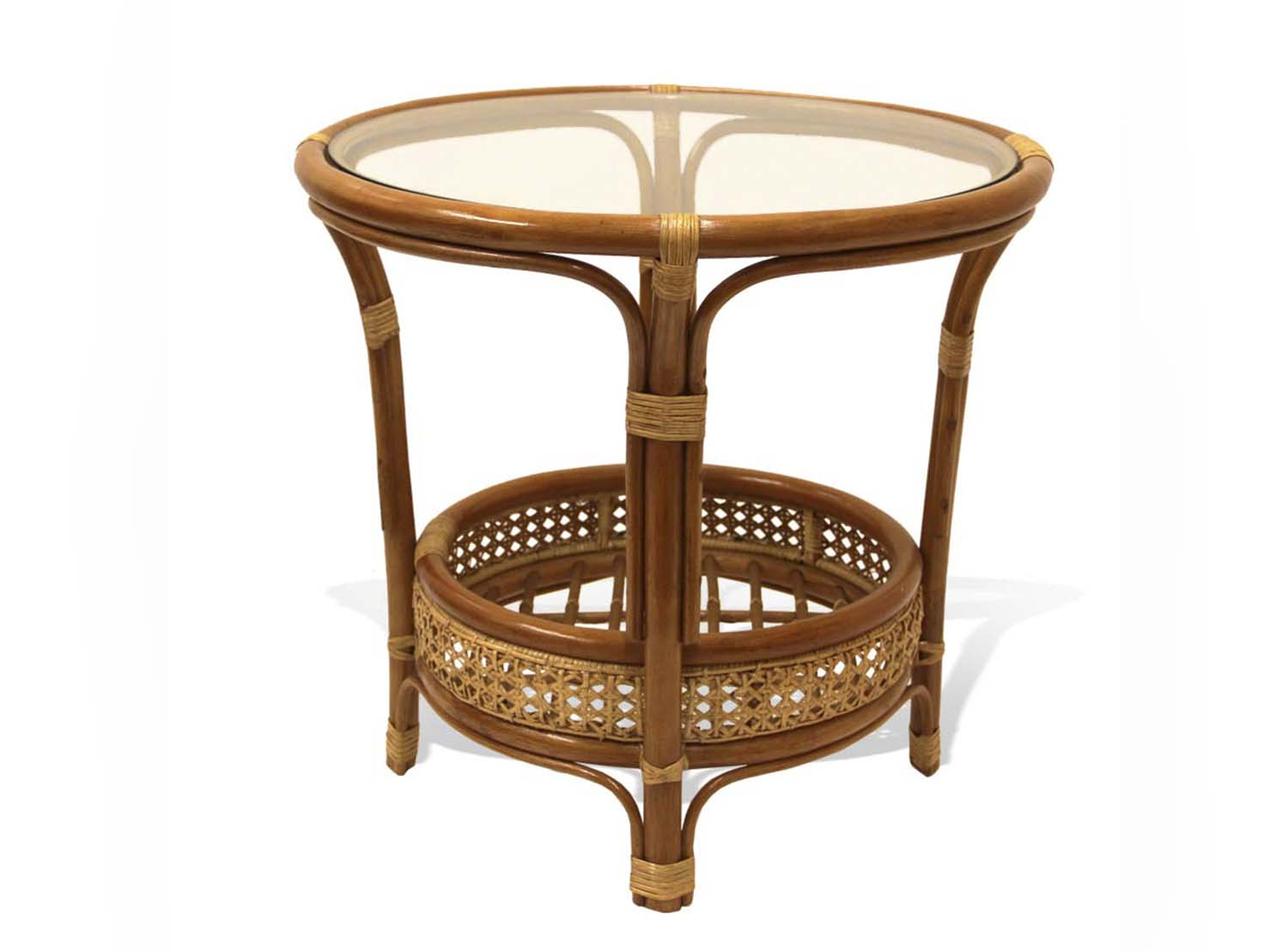 Pelangi Round Coffee Table Rattan Usa