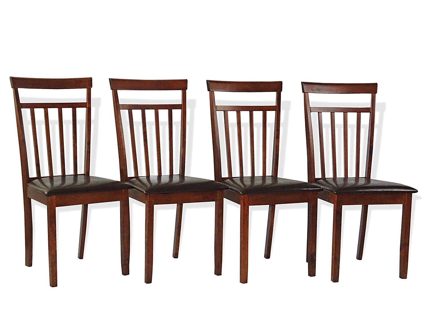 Warm Wooden Chairs Set Of 4 Rattan USA
