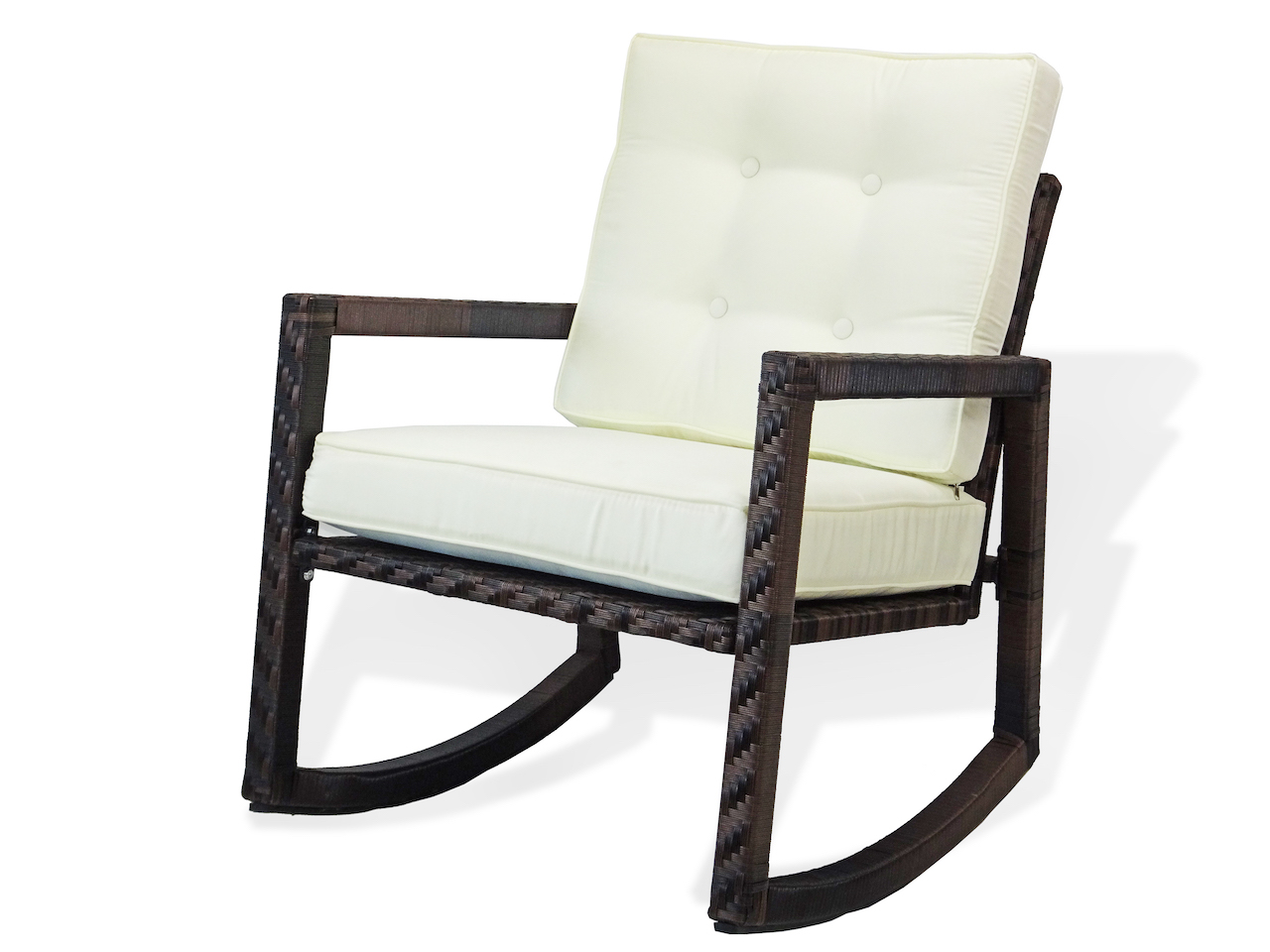 Buy Patio Resin Rocking Chair With Cushion In Usa Best