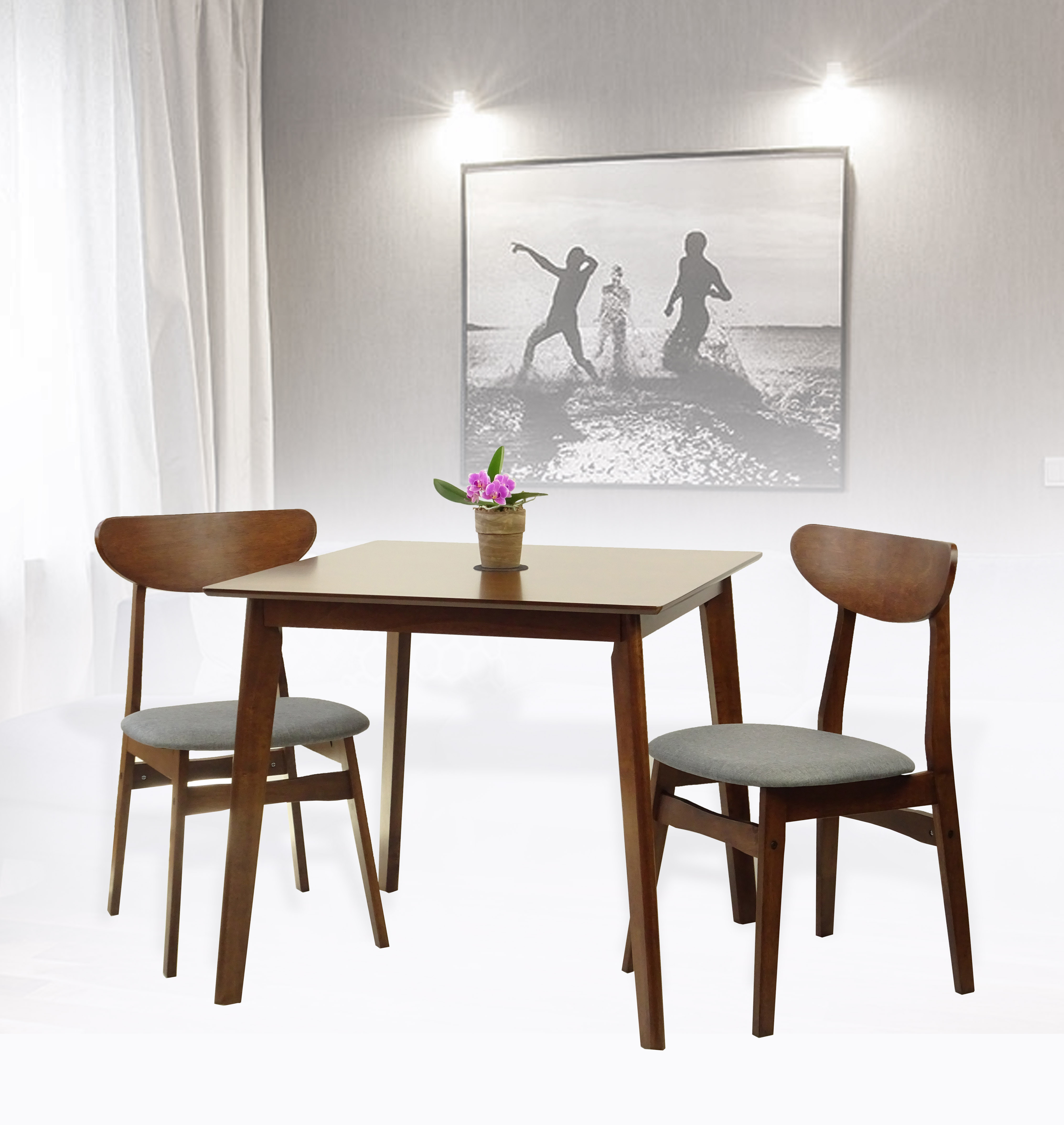 Rattan Kitchen Table: Buy Rattan Wicker Furniture Set Of 3 Dining Kitchen Square