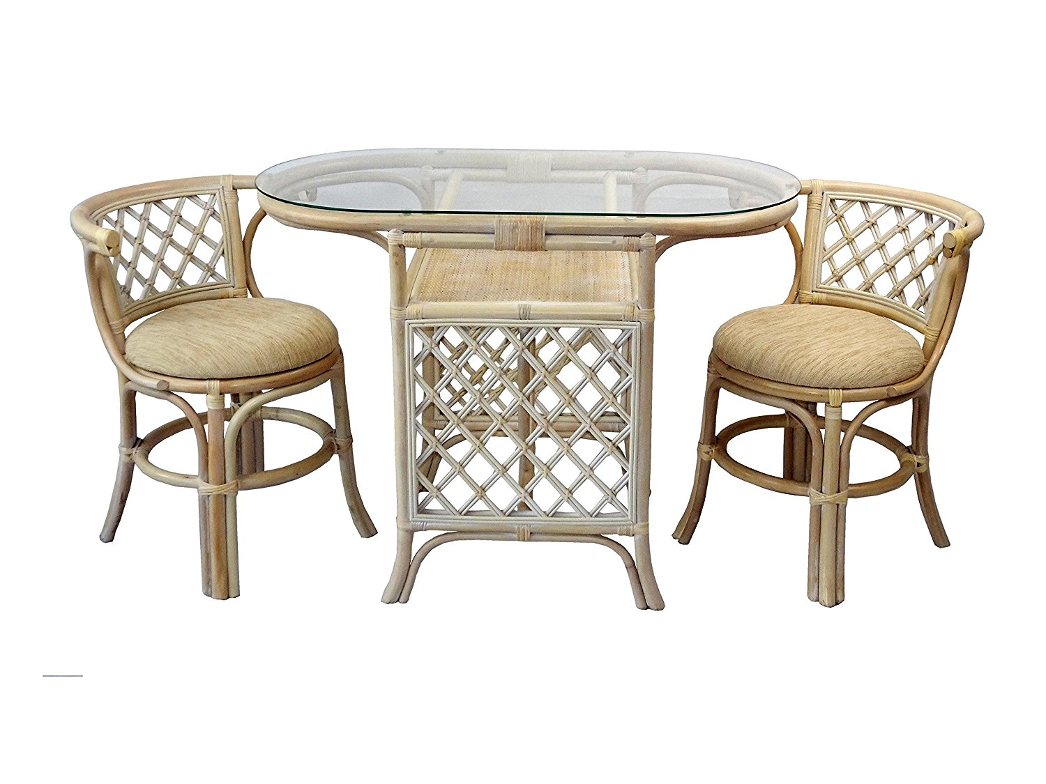 Set Of 3 Wooden Tables: Buy Borneo 3-pc. Dining Set (table With Glass Top) In USA