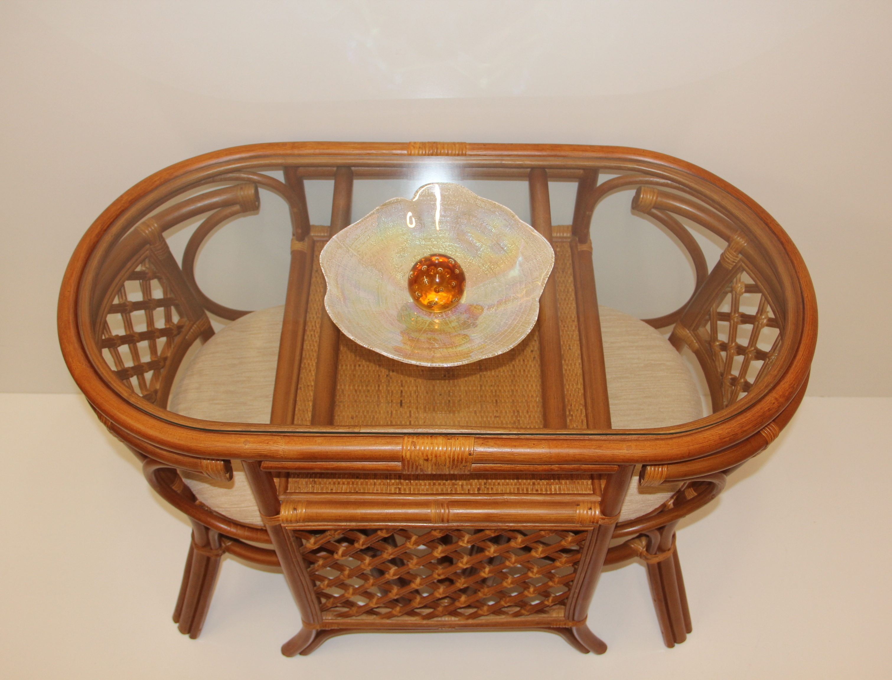 Buy Borneo 3 Pc Dining Set Table With Glass Top In Usa